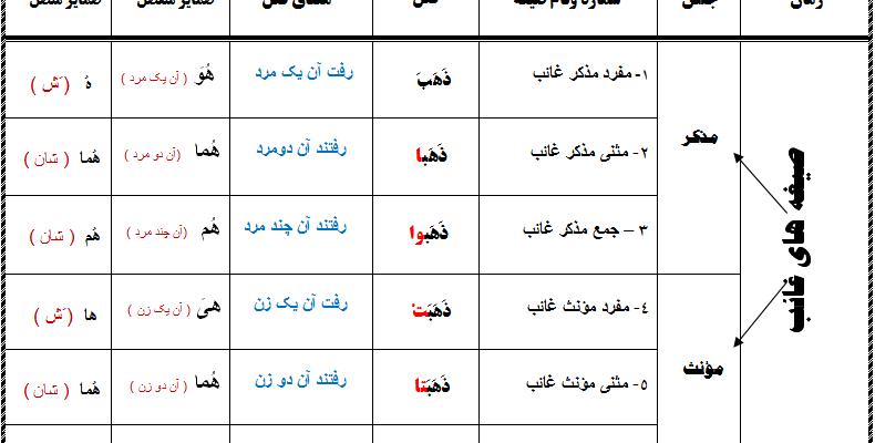 صرف فعل در زبان عربی