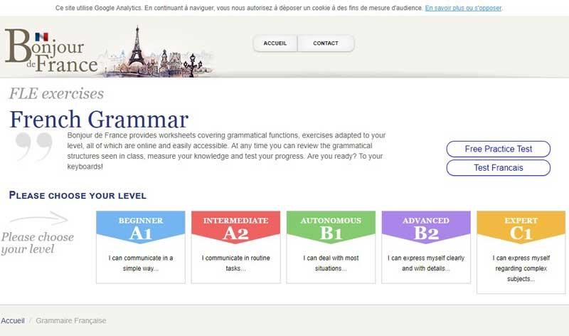 تصویری از وب سایت فرانسوی Bonjur-site