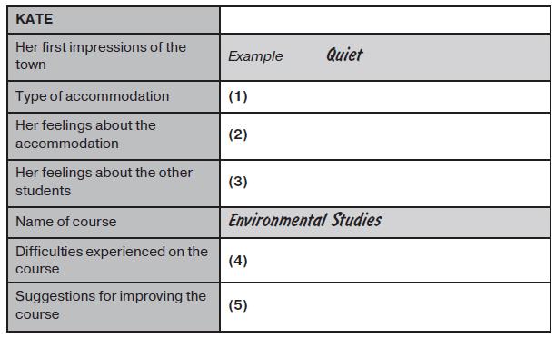 نمونه سوالات listening آزمون آیلتس