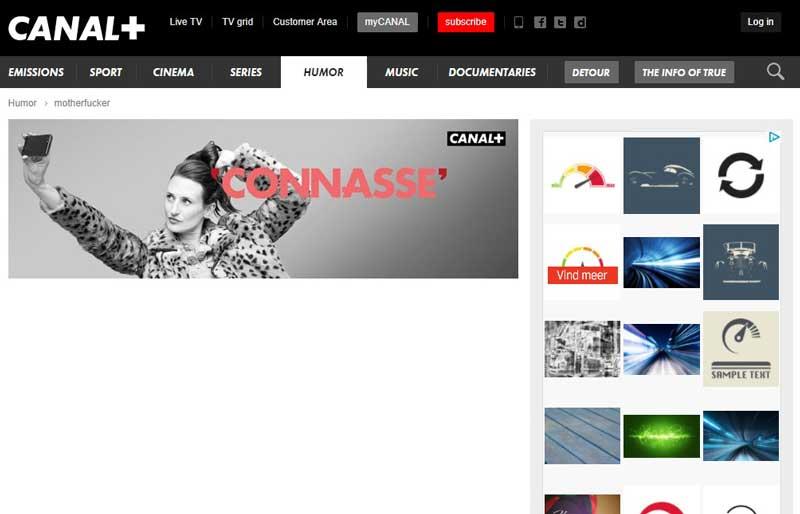 تصویر از محیط وب سایت آموزش فرانسوی canal+
