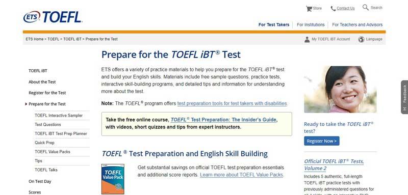وب سایت رسمی ETS