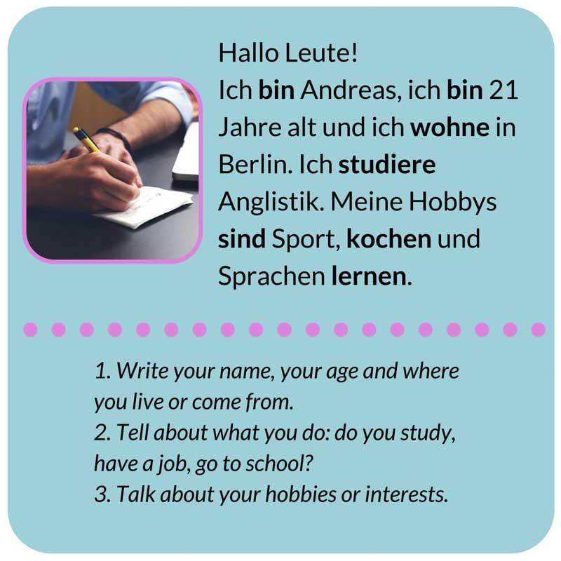 نحوه معرفی خودتان در زبان آلمانی