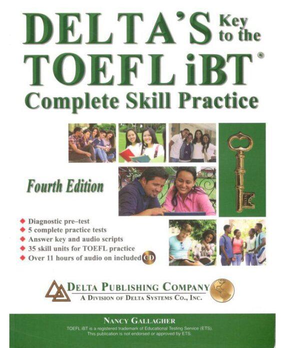 کتاب تافل DELTA'S key to the TOEFL iBT: complete skill practice