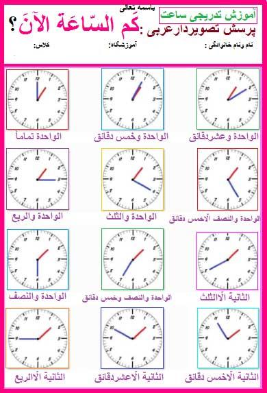 clock-learning-in-arabic