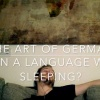 Learning German while sleeping