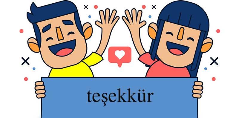 آموزش تصويري نحوه اصولي تشكر كردن به زبان تركي استانبولي +فيلم و تلفظ