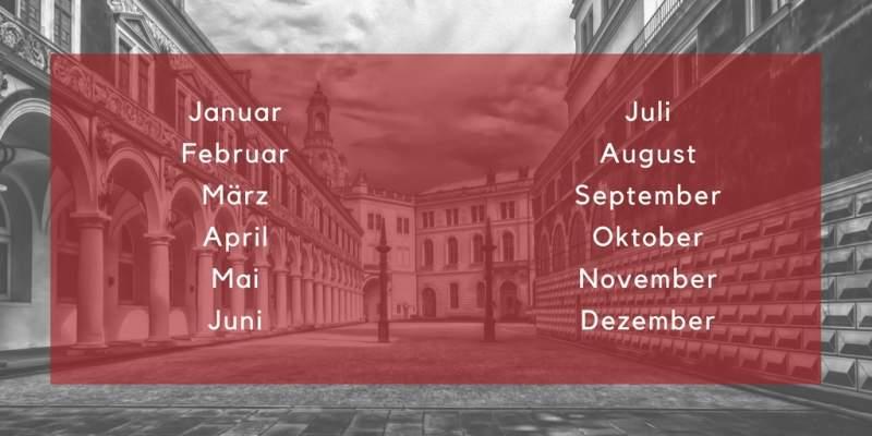 german months