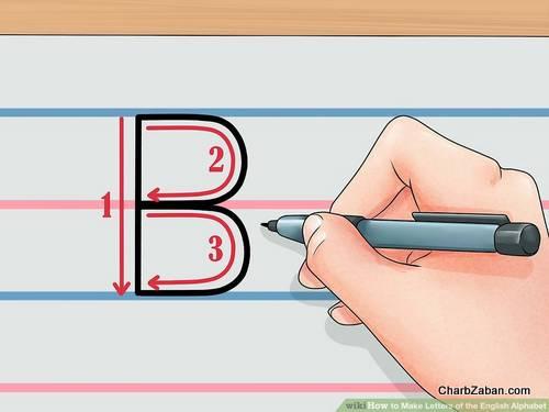 نوشتن  انگلیسی بر روی کاغذ آموزش  حروف انگلیسی