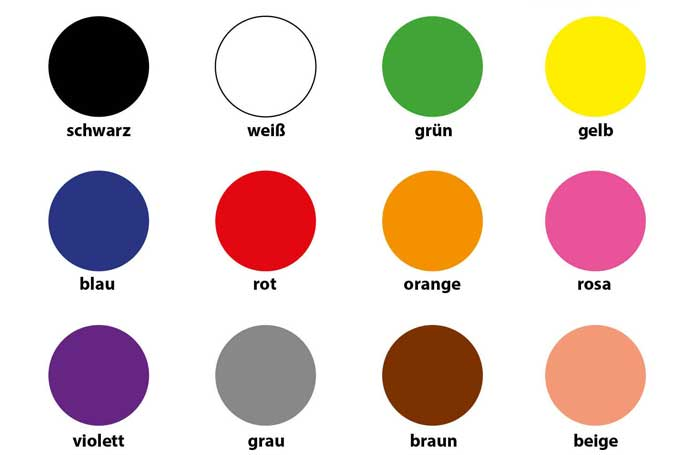 رنگ ها در آلمانی
