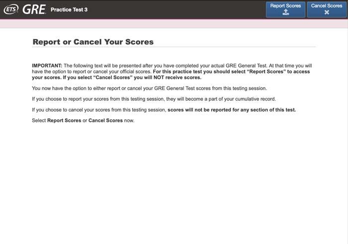 تصویری از صفحه آزمون