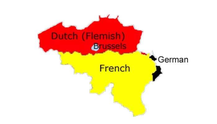 نقشه بلژیک و همسایگی ها
